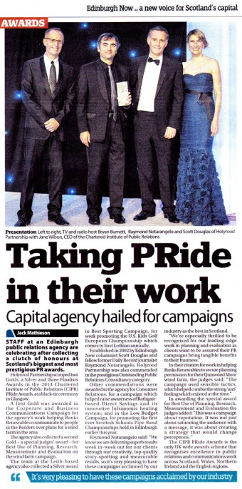 Award winning PR agency in Scotland