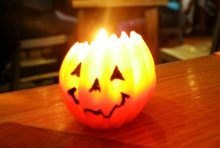 Image of pumpkin candle by Scottish PR Company.