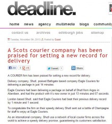 Press coverage for Eagle Couriers