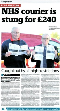 Eagle Couriers has been featured in Glasgow Now, with news that one of its drivers was issued four fines in one week