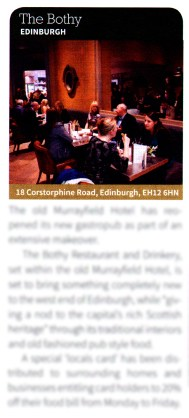 The Bothy Restaurant and Drinkery has been featured in the latest edition of Pub&Bar