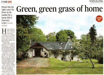 Gledfield Mill has appeared in At Home, a property supplement in The Press And Journal