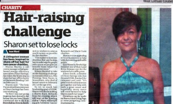 West Lothian Courier features Sharon Martin