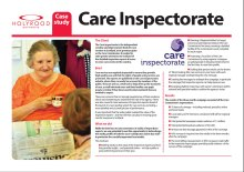 Public relations success case study for the Care Inspectorate