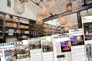 Media coverage by pub and bar restaurant agency of reviews of Forgans of st andrews