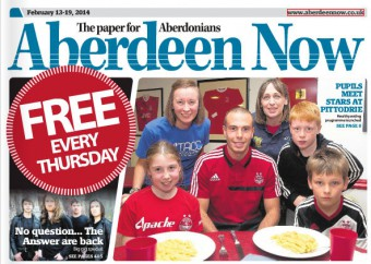 Aberdeen Now Front Page- Sodexo's free football club at Pittodrie