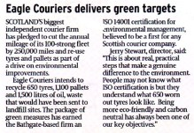 Scottish PR agency delivers media success for Eagle Couriers