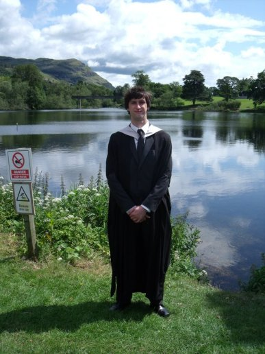 Graduating Stirling University in 2011