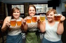 3 waitresses posing - G1 Refurbisments