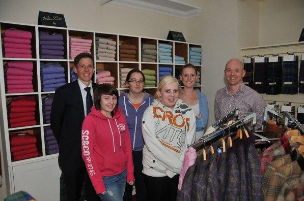 Peter Scott Knitwear staff