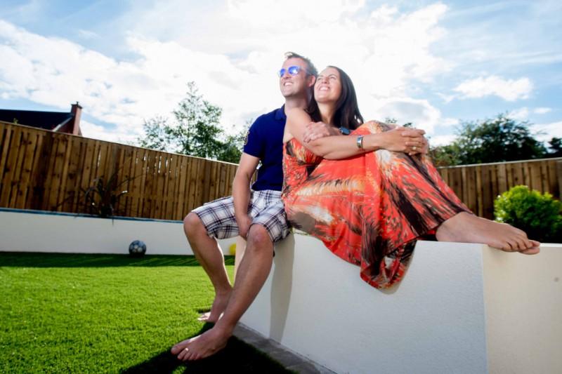 Romantic photo in the garden