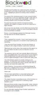 Blackwood Project Scotland Coverage