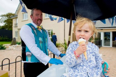 Public relations agency Holyrood PR arrranged these PR photos of children enjoying free ice cream thanks to CALA Homes