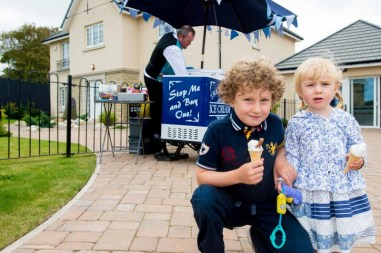 Kid enjoyed free ice cream thanks to CALA Homes. PR photos by Scottish public relations agency Holyrood PR