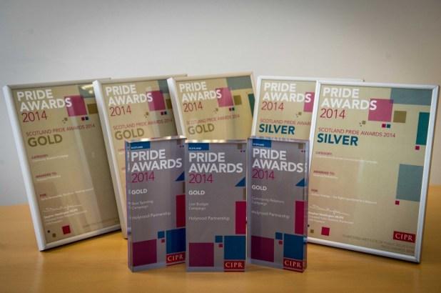 Gold PR awards for public relatons agency Holyrood PR in Edinburgh, Scotland