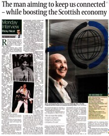Edinburgh PR agency secures full page spread from one of Scotland's leading communications specialists