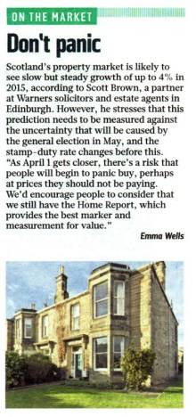 Edinburgh PR agency secure coverage for Edinburgh's leading solicitors and estate agents in the Sunday Times