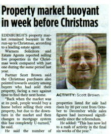 Media coverage for Edinburgh's leading solicitors and estate agents thanks to Scottish Public relations agency