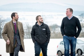 Colin Anderson and Gordon Thompson with Ewan Turner of Drumclog Plant Ltd,