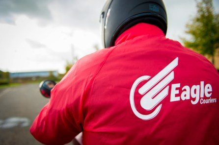Professional PR Photography by Holyrood Partnership for Eagle Couriers