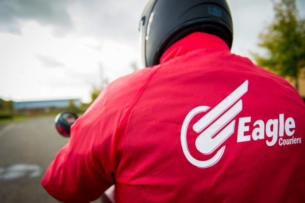 Professional PR Photography by Holyrood PR for Eagle Couriers