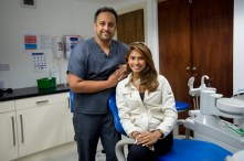 Miss Singapore, Dalreena Poonam Gill, visited Lubiju dental surgery in Leith, Edinburgh.