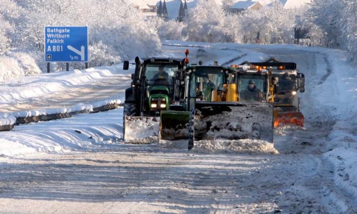 Edinburgh PR photography of snow ploughs
