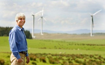 Photography from Holyrood PR of wind energy Super fans