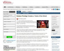 Venues Online Media Coverage of food and drink pr story