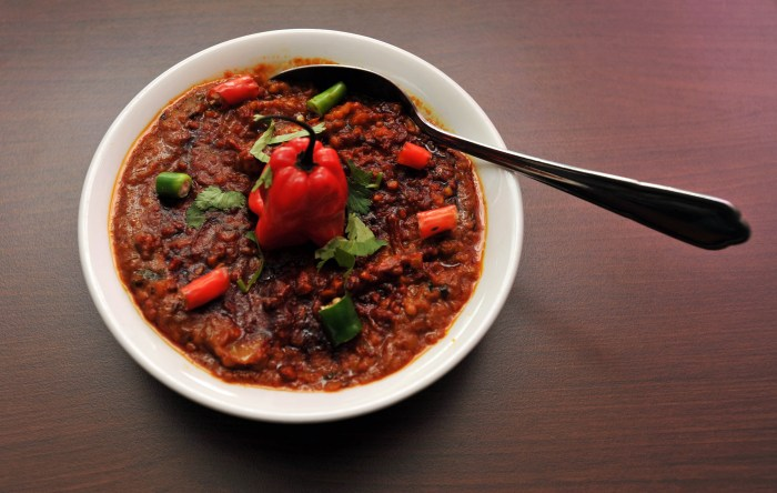 A public relations photograph of a very hot and spicy curry, by Scottish public relations agency Holyrood PR in Edinburghh