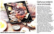 Coverage in The National of food and drink pr story