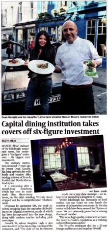 Scottish PR Agency coverage in Scotsman