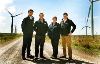 Business Photography capture Wind Farm team at Blacklaw Farm