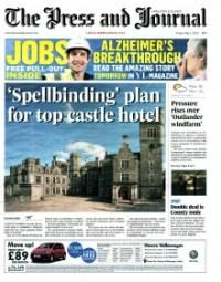 FRONT PAGE coverage edinburgh PR agency