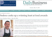 Food and drink PR experts holyrood PR deliver medi coverage for Sodexo Prestige