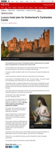 Edinburgh PR coverage in BBC