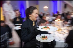 Busy waitress captured for food and drink pr story