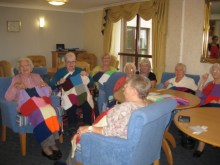 Pr Agency in Edinburgh Knitting group donate to cat Protection charity