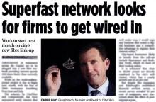 Scottish PR agency help gain coverage for CityFibre who launch Edinburgh as Gigabit city