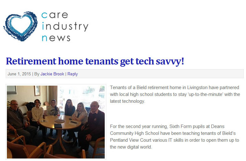 Successful PR campaign helps teens teach tenants technology