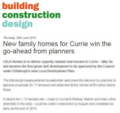 Building Construction Design Cala Homes coverage