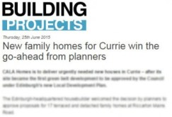 Building Projects CALA Homes, Currie