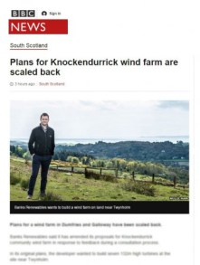 BBC media coverage of knockendurrick