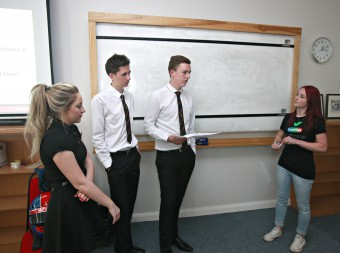 GOOD EGG YOUNG DRIVER SAFETY CAMPAIGN WITH SCOTTISH SUN RACER CHRISTIE DORAN AT KILSYTH ACADEMY, GLASGOW. PIC SHOW CHRISTIE DORAN TALKING TO THE YOUNG DRIVERS ABOUT HER RACING EXPERIENCES. FOR FULL DETAILS CONTACT JAN JAMES 07980 851360/jan@dynamicadgroup.com