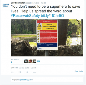 Holyrood PR in Edinburgh  help Scottish water set up social media campaign