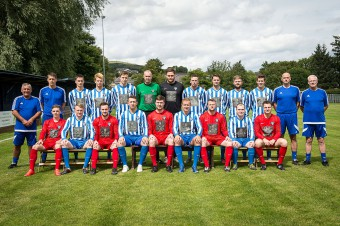 Penicuik Athletic prior to their Super league opener against Broxburn (c) Wullie Marr/HPR For pic details, contact Wullie Marr........... 07989359845