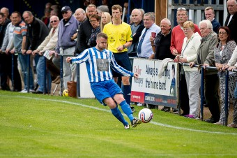 Penicuik Athletic during their Super league opener against Broxburn which ended in a two each draw. (c) Wullie Marr/HPR For pic details, contact Wullie Marr........... 07989359845
