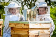 Donation to local beekeepers hit local headlines with PR photography Scottish PR agency
