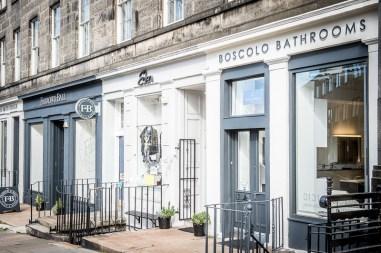 Boscolo Bathrooms new showroom in Stockbridge, Edinburgh, and owner, Ronnie Scott.