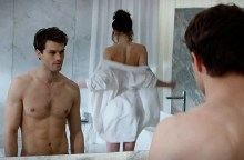 An iconic scene from the 50 Shades of Grey movie